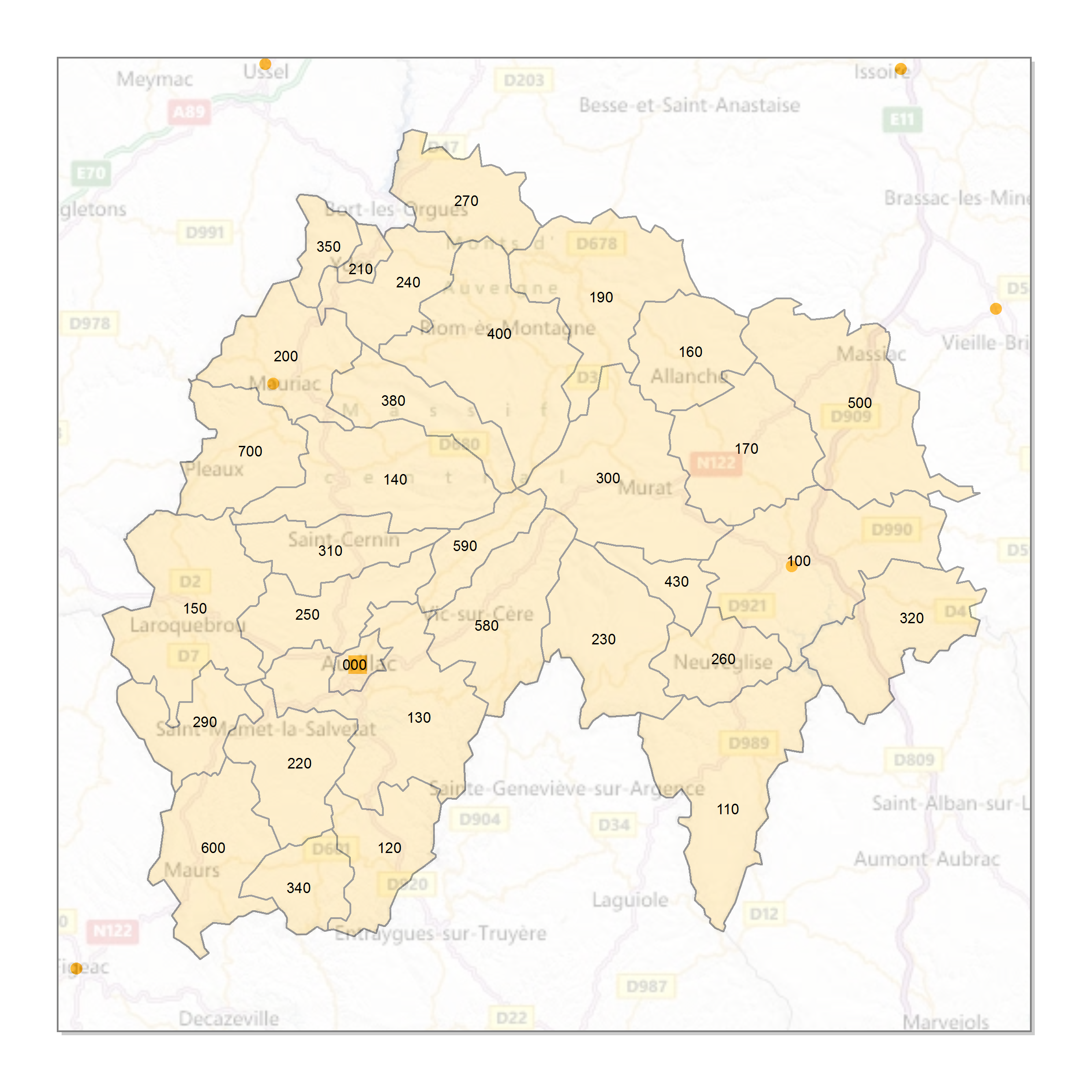 Atlas Des Codes Postaux Cartes Des Départements De France