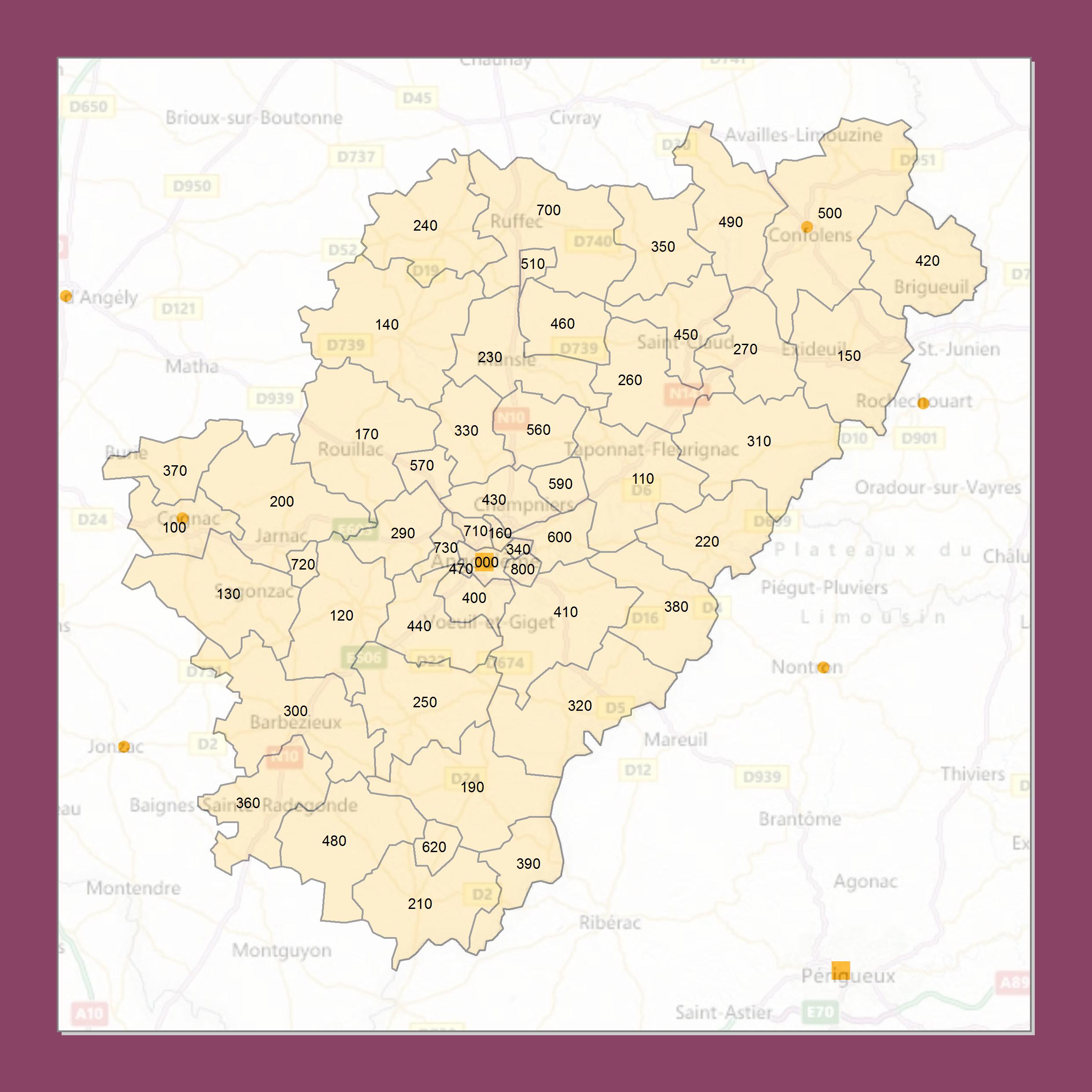 Atlas Des Codes Postaux Cartes Des Departements De France